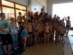 Sportowe zakończenie nauki pływania.