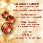 III szkolny konkurs kolęd i pastorałek